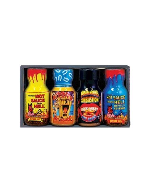 4 Mini Botellas Salsa Xtreme Heat