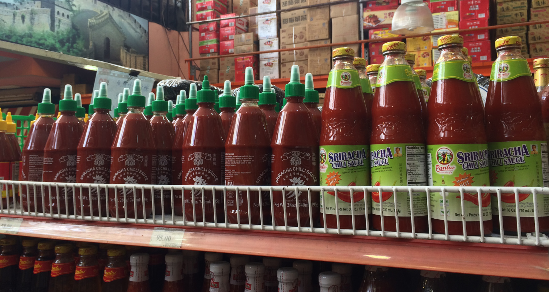 Salsa Sriracha en el barrio chino en Buenos Aires