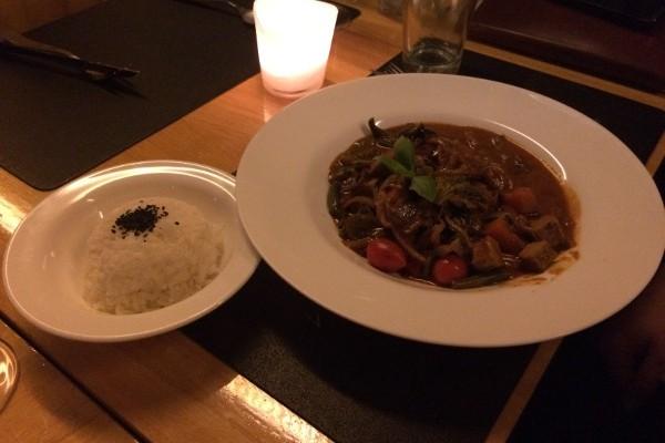 Curry rojo de vegetales tailandés