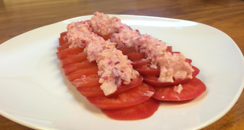 Ensalada de tomate y nueces