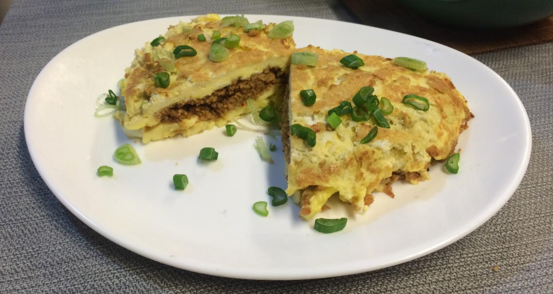 Omelette con soja texturizada