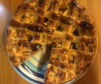 Tarta de manzana de Holanda desde arriba