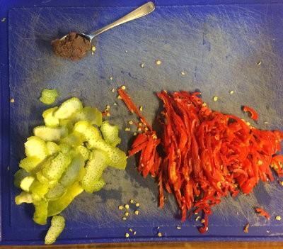 Ingredientes para sambal con lima