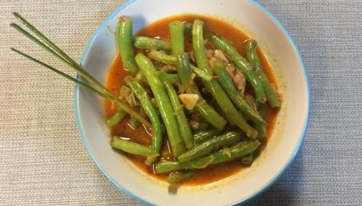 Chauchas en salsa Sambal Goreng