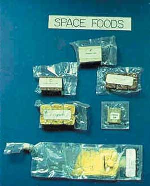 Tipos de comidas espaciales