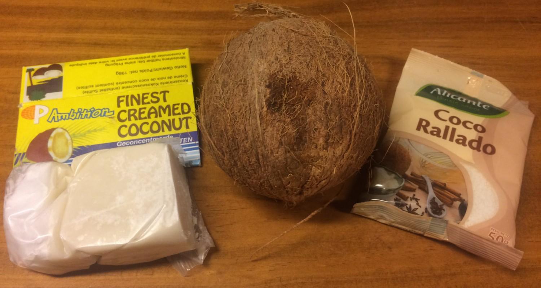 """Diferentes tipo de coco para hacer """"santen"""""""