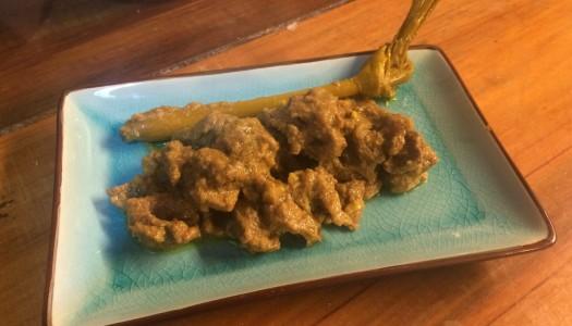 Lomo en salsa de coco picante