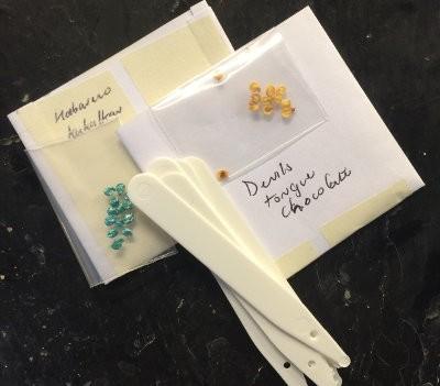Etiquetas de semillas de chiles