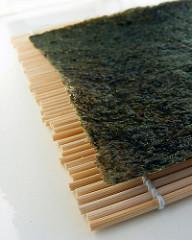 Nori hojas de algas para sushi