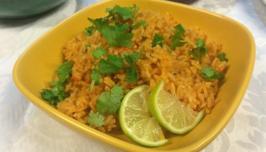 Arroz mexicano con cilantro