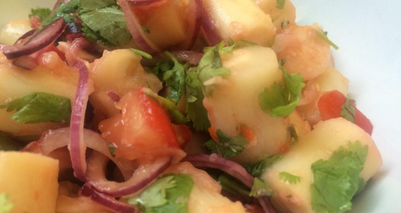 Ceviche vegetariano de palmitos detalle