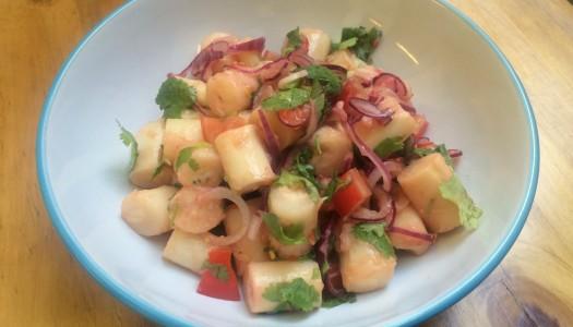 Ceviche vegetariano de palmitos y cilantro