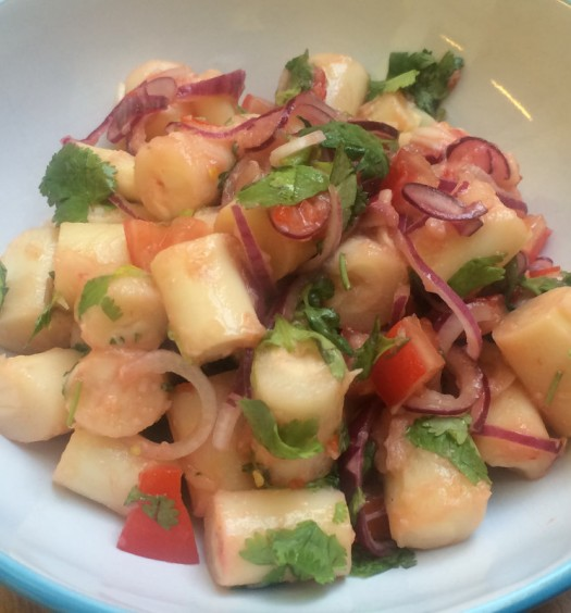 Ceviche vegetariano de palmitos