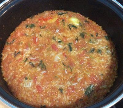 El arroz mexicano después de 15 minutos