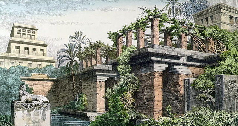 Los Jardines Colgantes de Babilonia por Ferdinand Knab