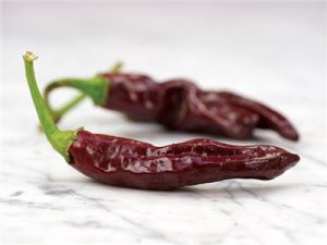 Chiles marrones de Etiopía
