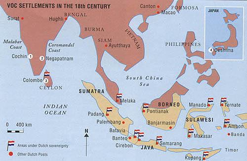 Fuertes de la VOC en el siglo XVIII